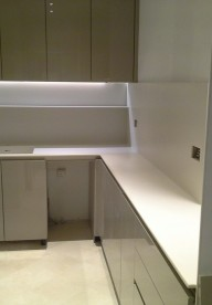 Corian® is ideal for small spaces.