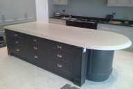 Hand Painted Corian® Kitchen with traditional edge profile