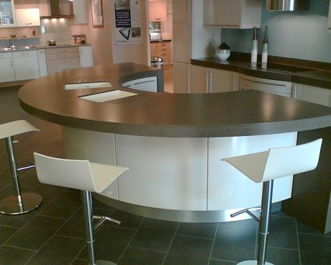 Canyon top with glacier  bowls curved drainers slab ends 80mm thermo formed facias