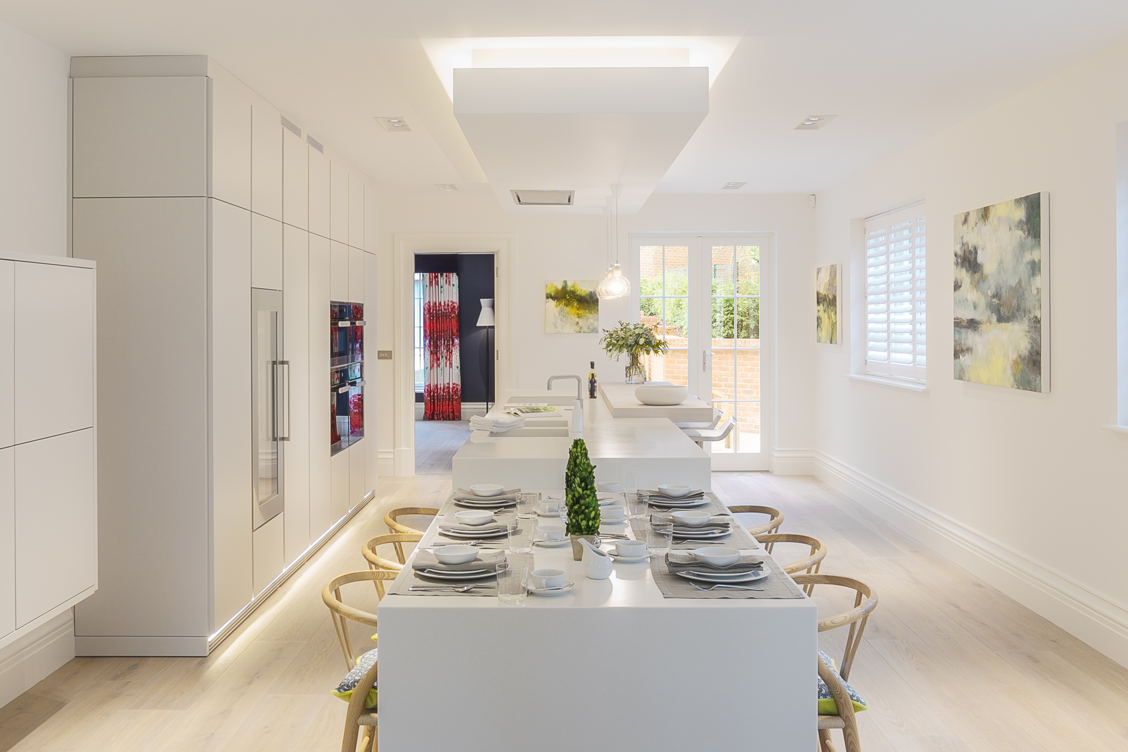 Corian island corian island with self supporting for Kitchen design 5m x 5m