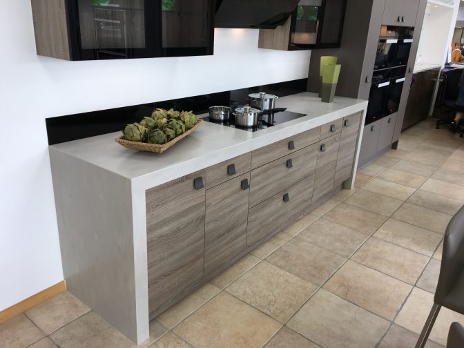 Neutral Concrete Corian Display