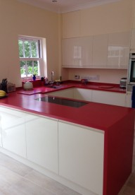 Royal Red Corian® Kitchen