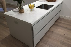 corian around beam