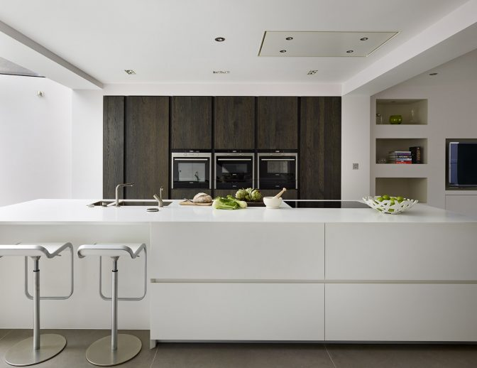 Glacier White Corian Kitchen