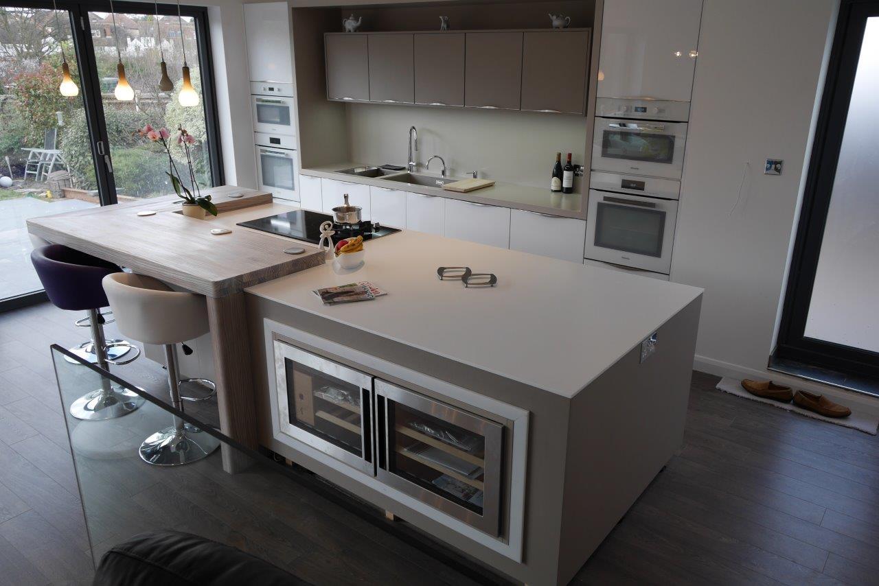 Corian 174 Island Worktop In Designer White Counter