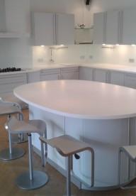 Glacier White Corian® Kitchen Worktops