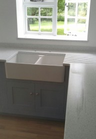 Traditional Hand Painted Kitchen With Corian®
