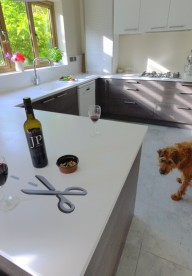 Corian® Worktops with Scissor Inlay