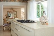 White Onyx Corian Kitchen