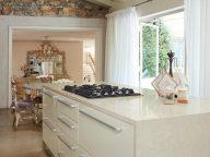 White Onyx Corian Kitchen
