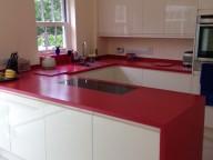 Royal Red Corian® Kitchen