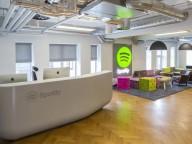 Thermoformed Corian® Spotify Reception Desk